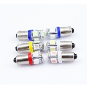 2 BOMBILLAS LED BA9S 5630 6253 T4W