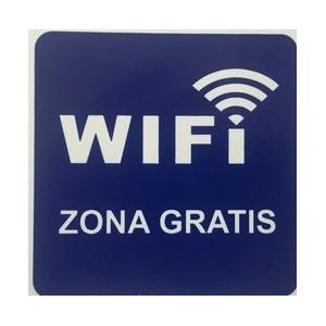 CARTEL ZONA WIFI GRATIS