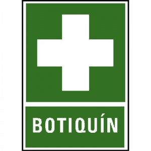 "CARTEL DE PVC ""BOTIQUIN"""