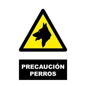 CARTEL DE PRECAUCION PERROS