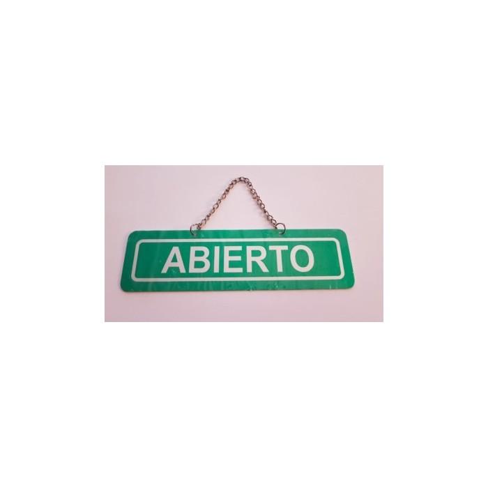 """CARTEL METALICO """"ABIERTO"""" PARA NEGOCIOS"""