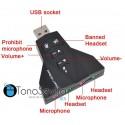 Adaptador virtual USB para tarjeta de sonido