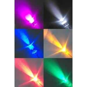 50 diodos LED (5mm) de colores
