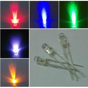 50 diodos LED (5mm) de colores