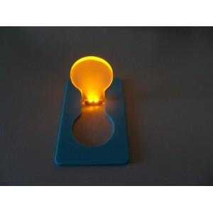 Bombilla led con forma de tarjeta