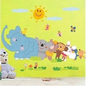"""Pegatina infantil """"El elefante y compañía"""""""