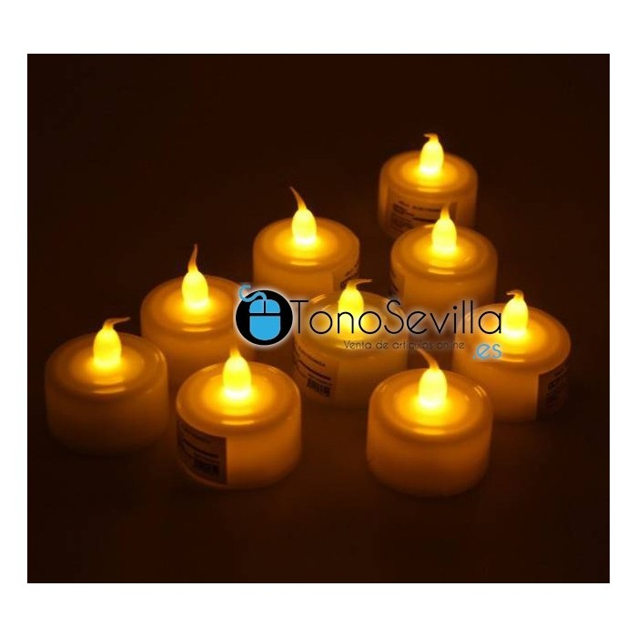 12 velas led amarillas