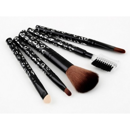 Set de viaje 5 brochas para maquillaje
